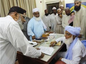 Hazrat Sahab giving Ilaj