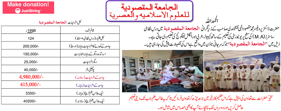 Jamia-Maqsoodia University,Islami roohani mission